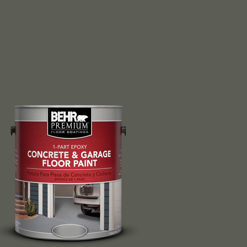 1 gal. #N380-7 Black Bamboo 1-Part Epoxy Concrete and Garage Floor