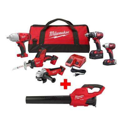 M18 18-Volt Lithium-Ion Cordless Combo Tool Kit (5-Tool) with M18 FUEL Blower