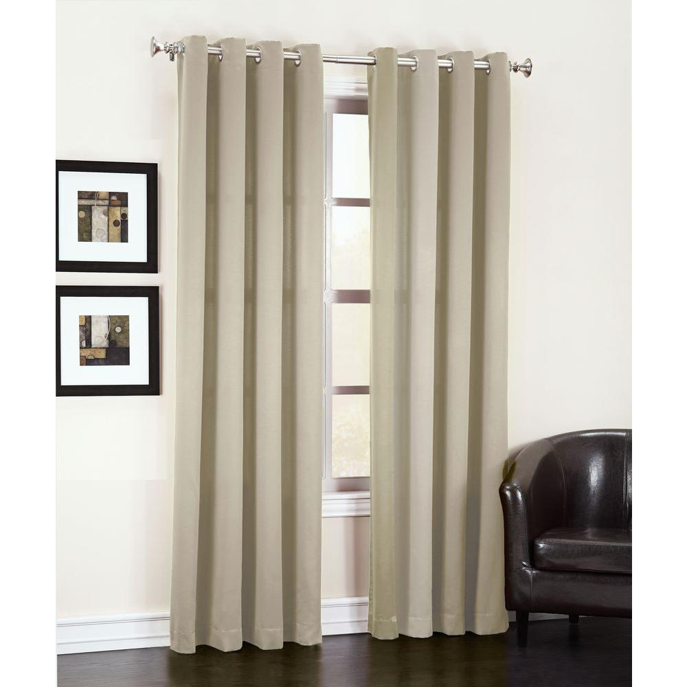 Perfect Sun Zero Semi Opaque Stone Gregory Room Darkening Grommet Top Curtain  Panel, 54 In. W X 84 In. L 43516   The Home Depot