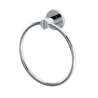 Channel Towel Ring in Chrome