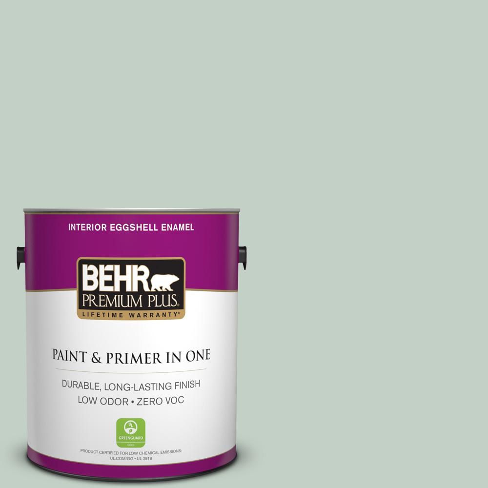 1 gal. #PPU11-13 Frosted Jade Zero VOC Eggshell Enamel Interior Paint