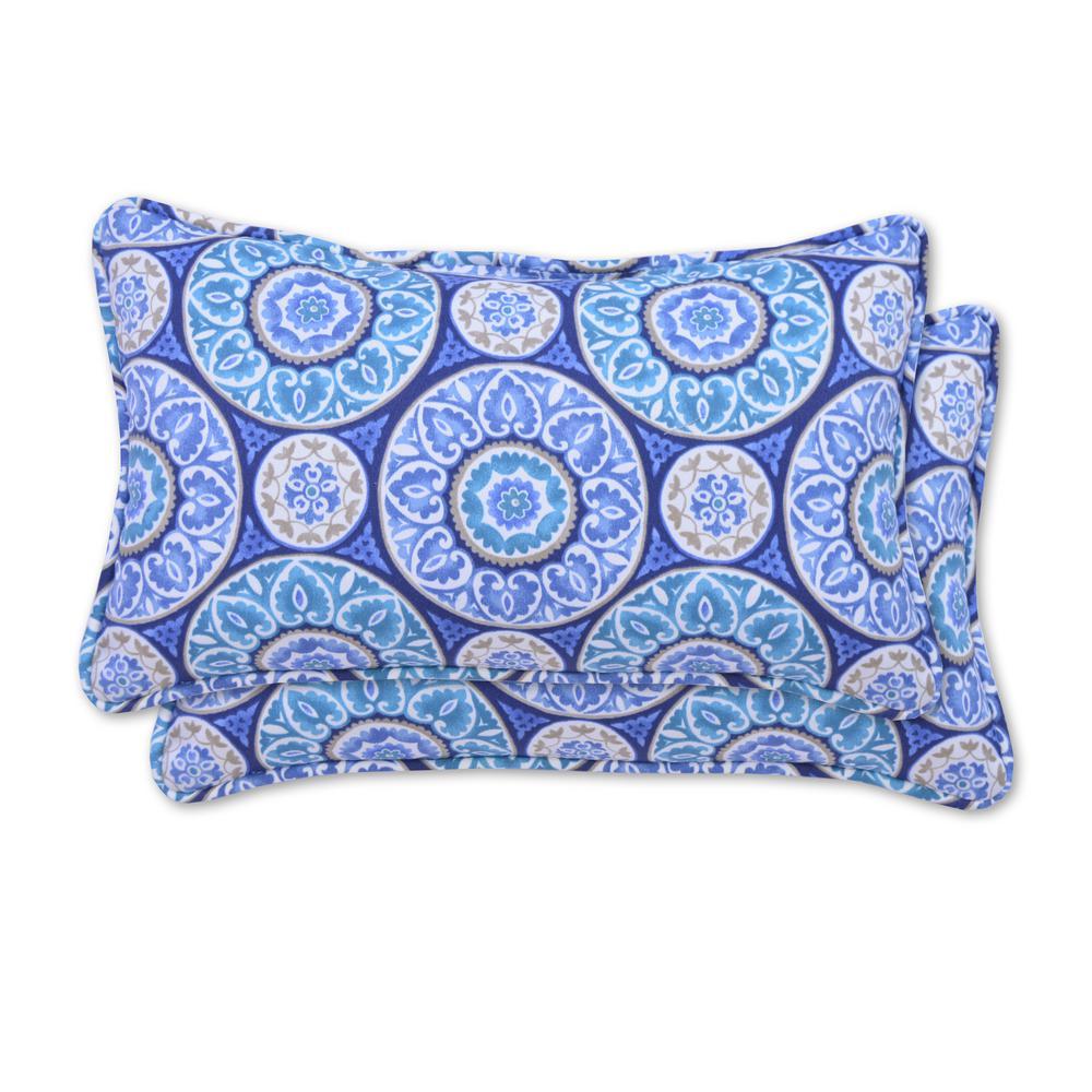 Tabea Rectangle Lumbar Outdoor Throw Pillow (2-Pack)