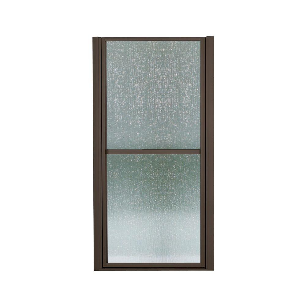 STERLING Finesse 39-1/2 in. x 65-1/2 in. Framed Pivot Shower Door in Deep Bronze with Rain Glass Texture
