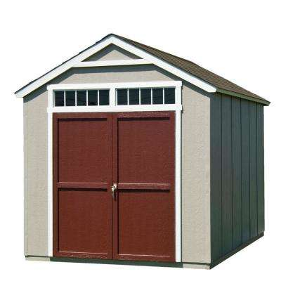 Installed Majestic 8 ft. x 12 ft. Wood Storage Shed with Driftwood Shingles