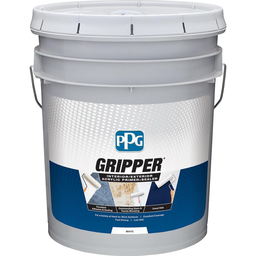 PPG Gripper 5 gal. White Interior/Exterior Acrylic Primer Sealer