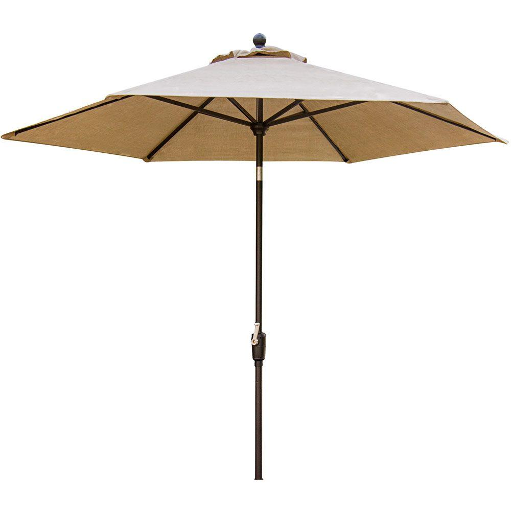 Hanover Traditions 11 Ft. Aluminum Tilt Patio Umbrella In Natural Oat