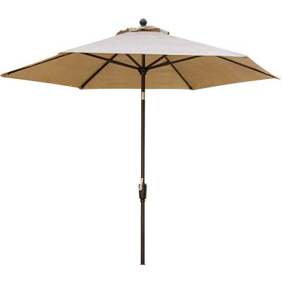 Traditions 11 ft. Aluminum Tilt Patio Umbrella in Natural Oat