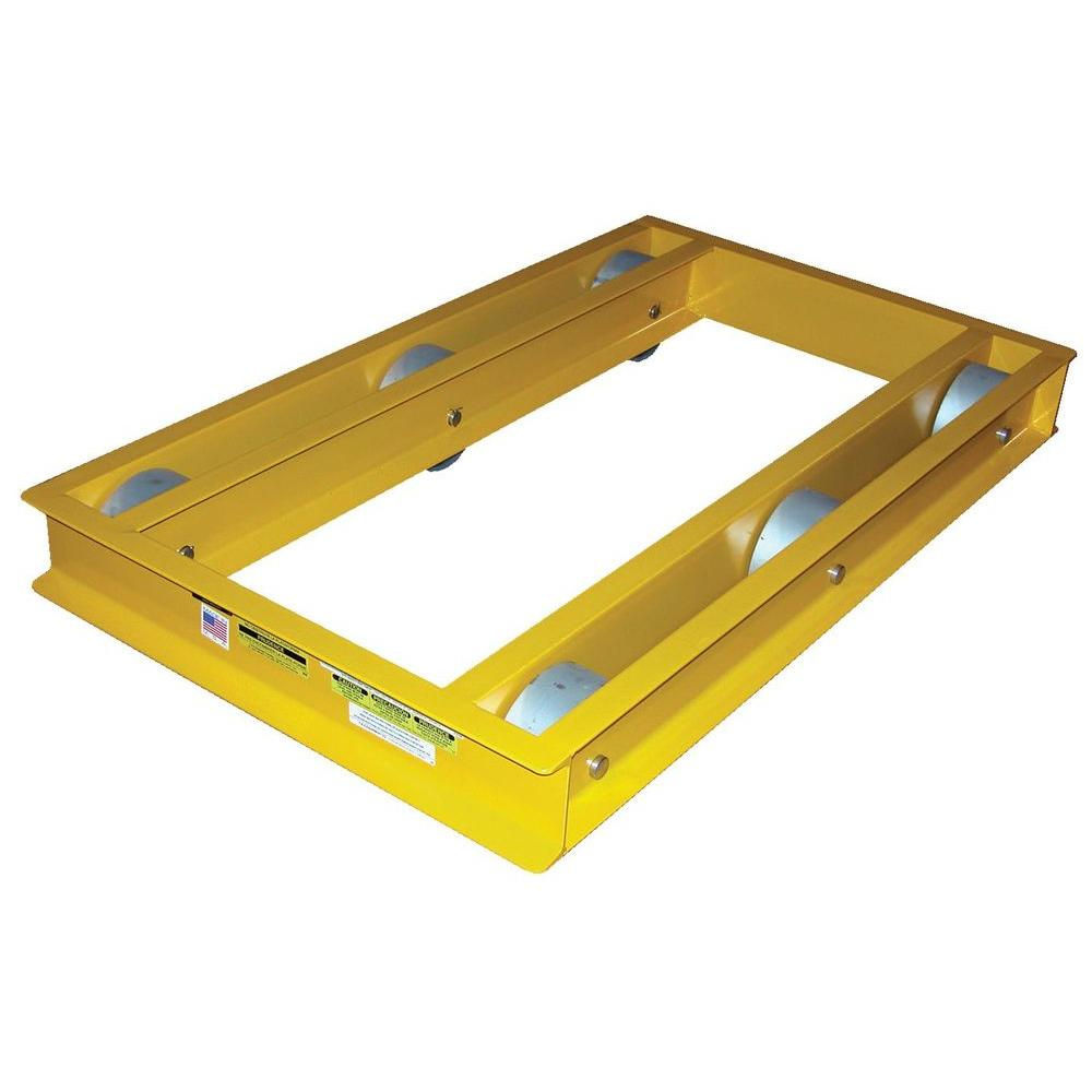 10,000 lb. 60 in. x 36 in. Open-Deck Machinery Dolly