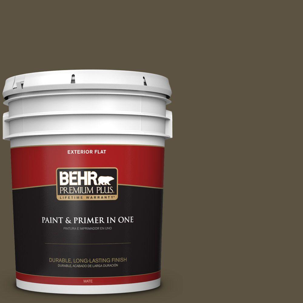 BEHR Premium Plus 5-gal. #760D-7 Moosewood Flat Exterior Paint