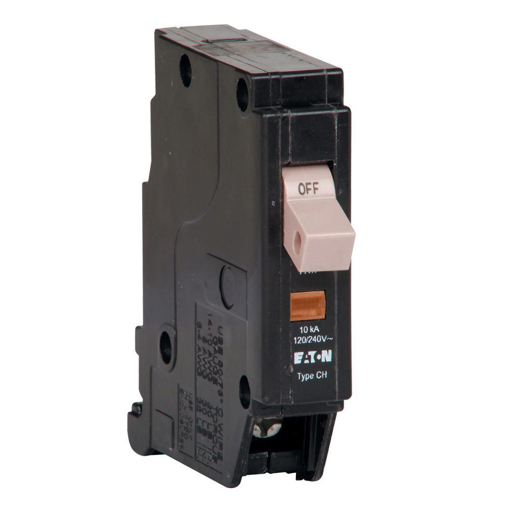 Eaton Ch 15 Amp 1 Pole Self Test Ground Fault Circuit Breaker With Keeps Immediately Tripping After Reset Electrical Trip Flag