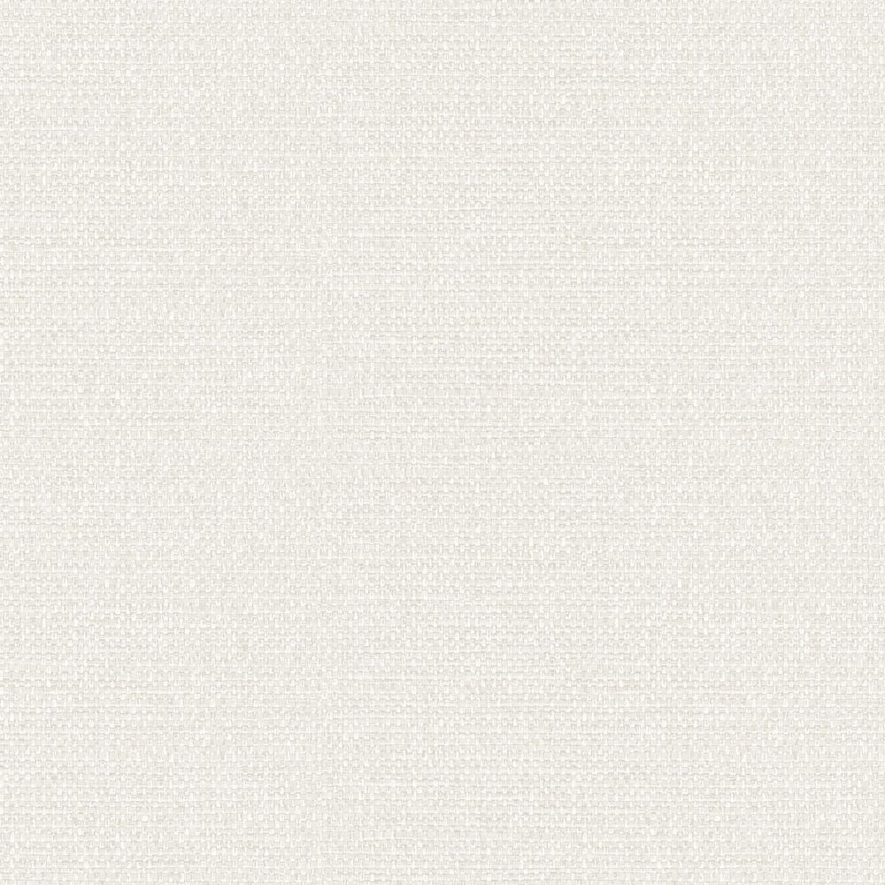 Woven Raffia Bone White Shimmer Linen Embossed Vinyl Wallpaper