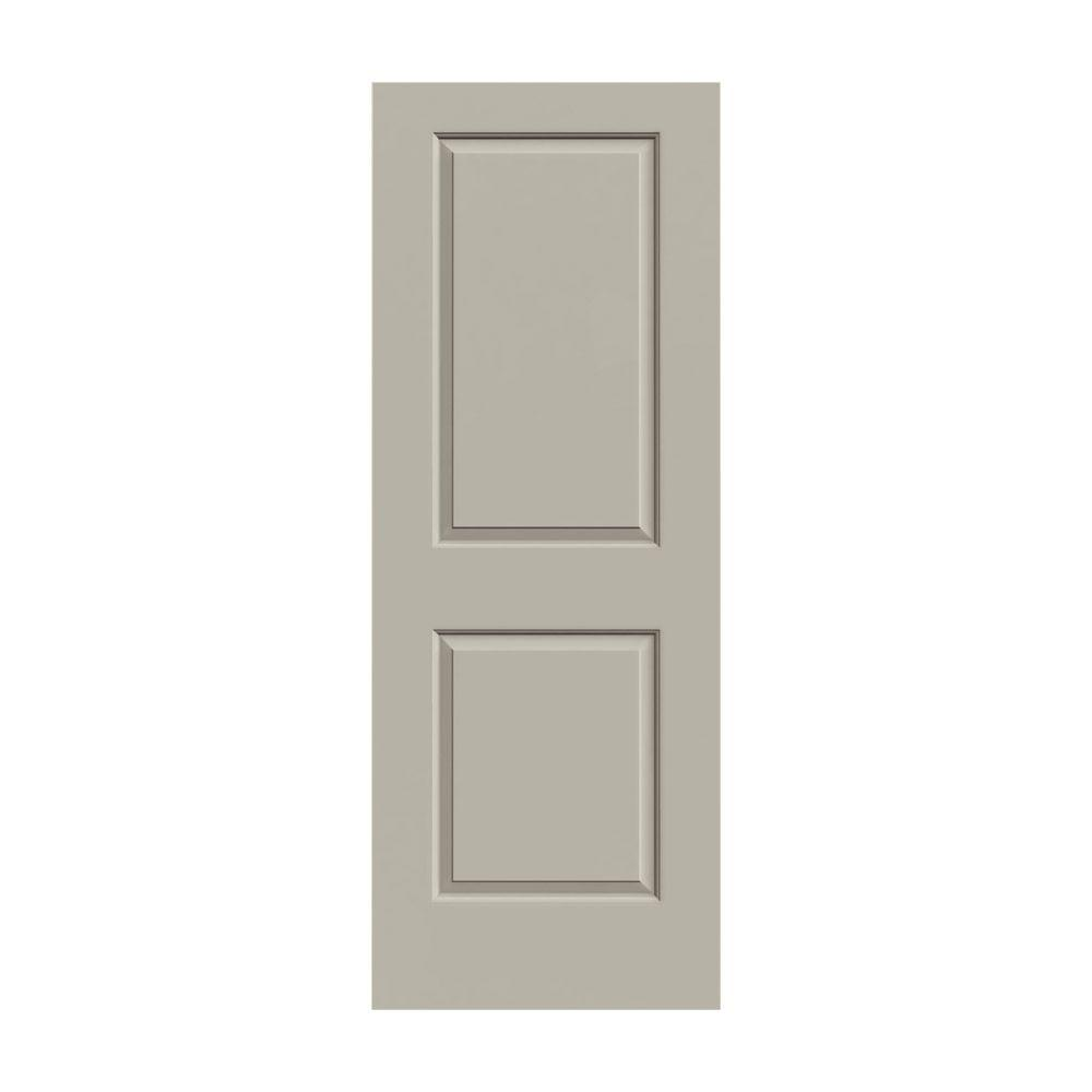 JELD-WEN 36 in. x 80 in. Cambridge Desert Sand Painted Smooth Solid Core Molded Composite MDF Interior Door Slab
