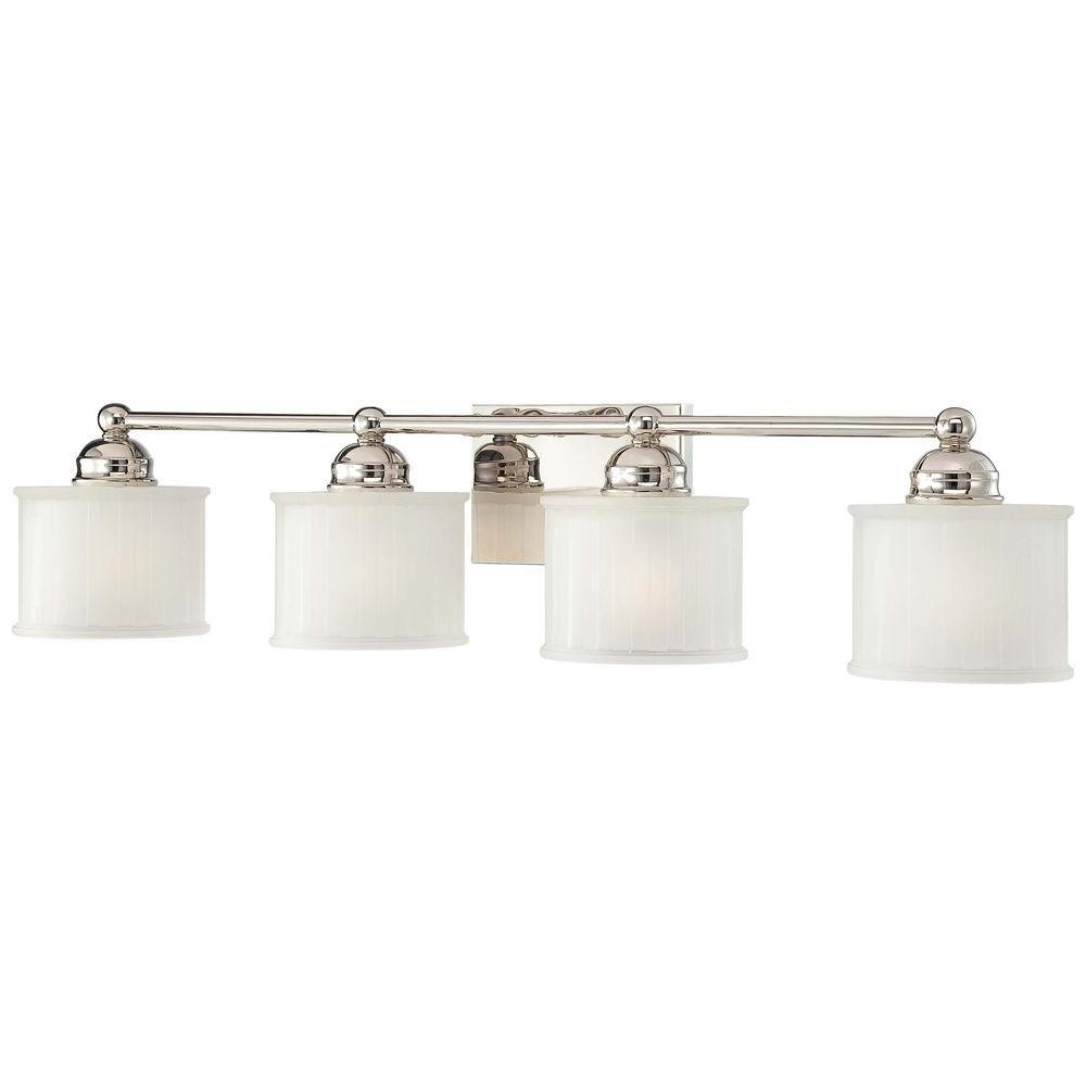 4-Light Polished Nickel Bath Light