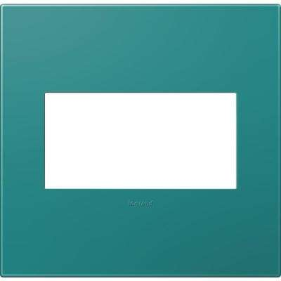 2-Gang 2 Module Wall Plate, Turquoise Blue