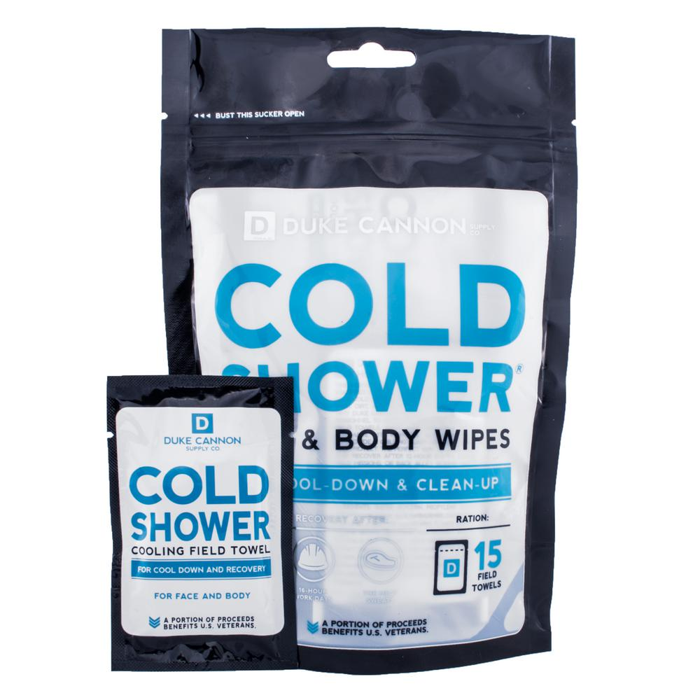 Duke Cannon Cold Shower Towels, Individually Wrapped (15-Count)