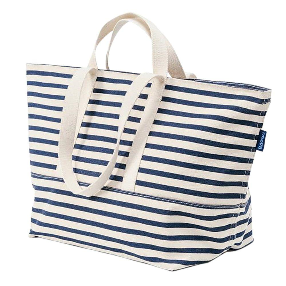 Home Decorators Collection Cotton Canvas Weekend Bag in Sailor Stripe