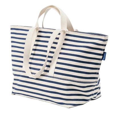 Cotton Canvas Weekend Bag in Sailor Stripe