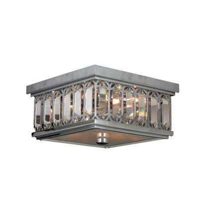 Athens 4-Light Chrome and Clear Crystal Flushmount