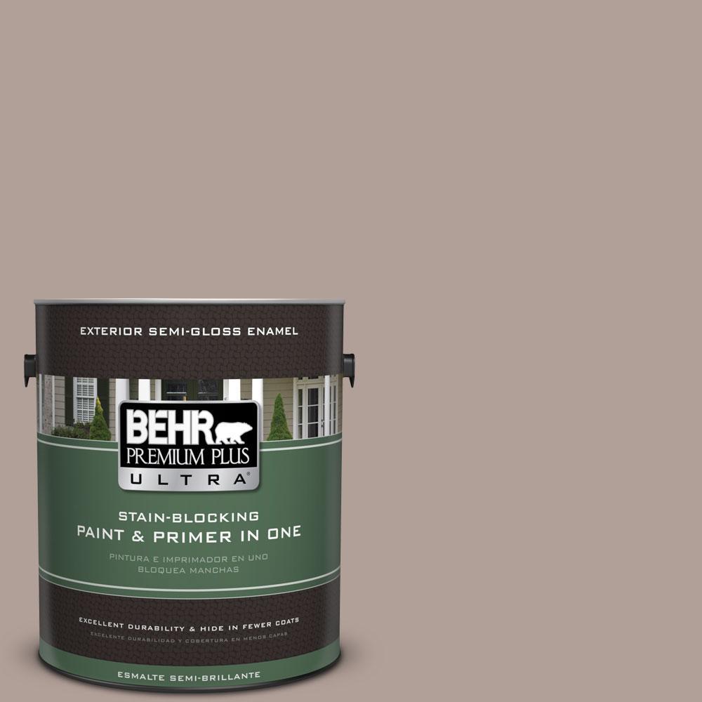 BEHR Premium Plus Ultra 1-gal. #N180-4 Moleskin Semi-Gloss Enamel Exterior Paint