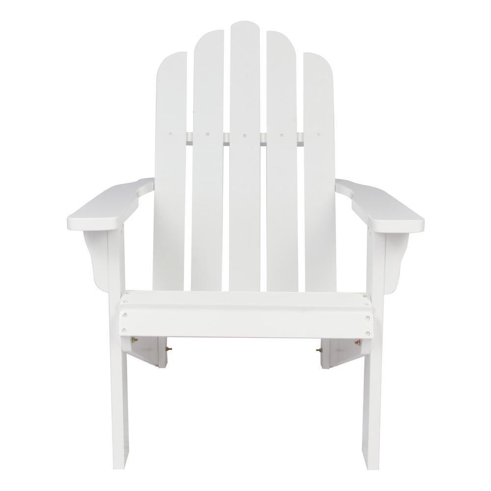 Shine Company Marina White Cedar Wood Adirondack Chair