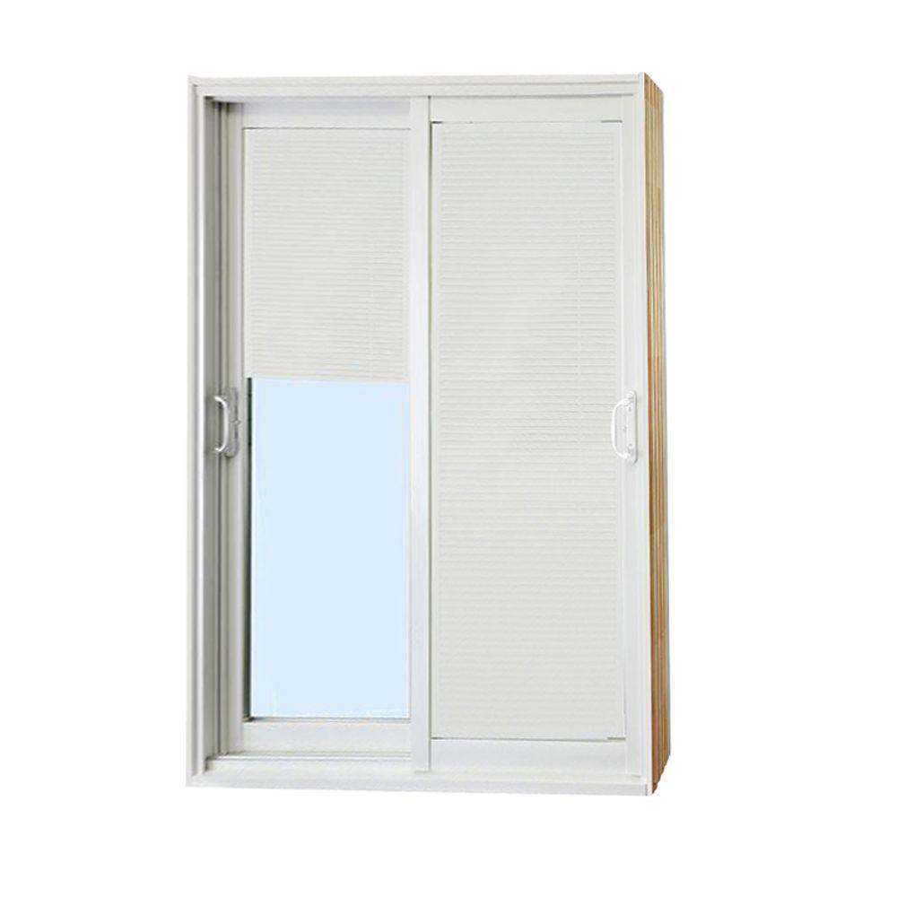patio doors home depot. Stanley Doors 72 in  x 80 Double Sliding Patio Door with Internal Mini