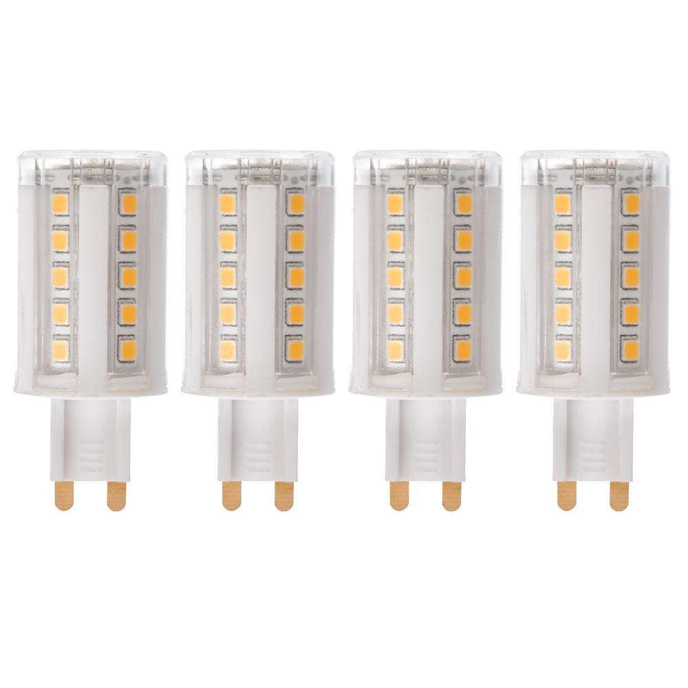 50-Watt Equivalent G9 Dimmable LED Light Bulb Warm White (4-Pack)