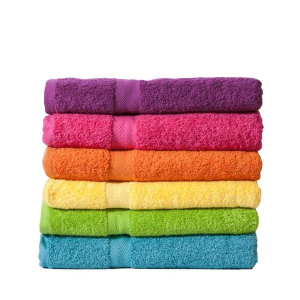 Orange Solid Cotton Bath Towel Set