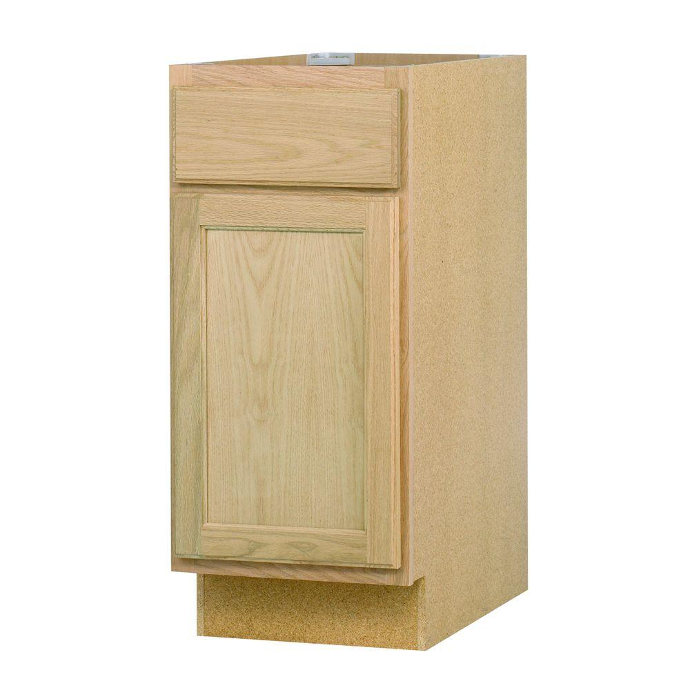 Assembled In Base Kitchen Cabinet In Unfinished Oak B15ohd The Home Depot
