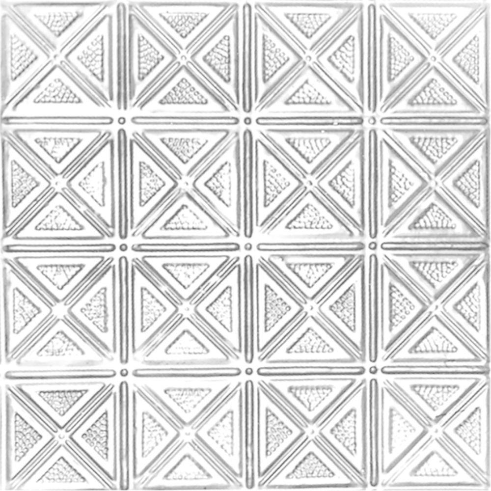 Shanko 2 Ft X Lay In Suspended Grid Tin Ceiling Tile