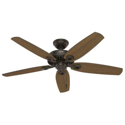Builder Elite 52 in. Indoor/Outdoor New Bronze Ceiling Fan Bundled with Handheld Remote Control