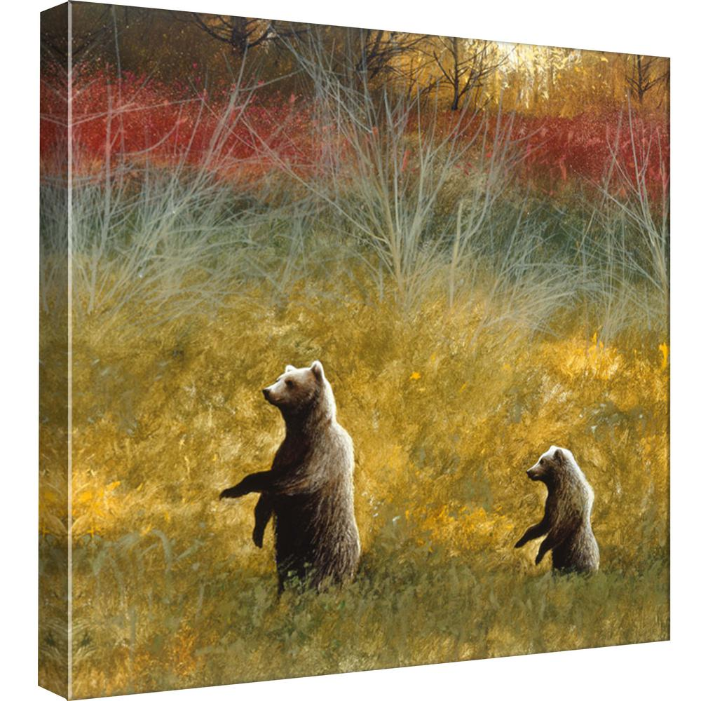 PTM Images 15.in x 15.in \'\'Caution\'\' Printed Canvas Wall Art-9-99090 ...