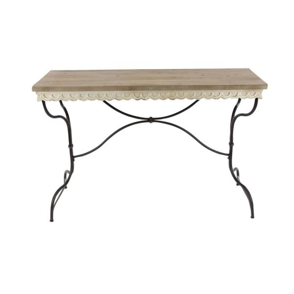 Litton Lane Rustic Wooden Console Table 84335