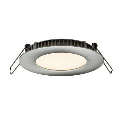 3 in. Satin Nickel Integrated LED Recessed Kit