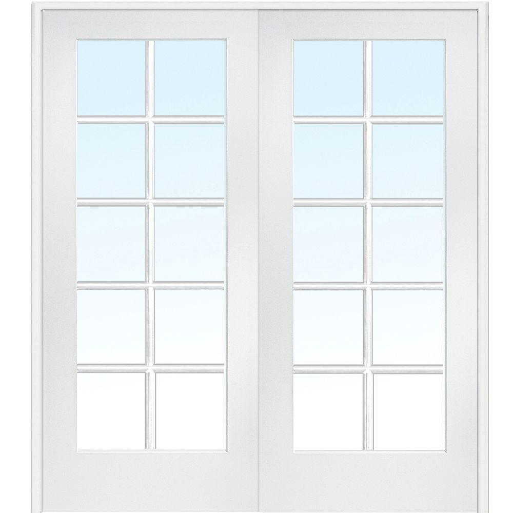 60 in. x 80 in. Both Active Primed MDF Glass 10-Lite