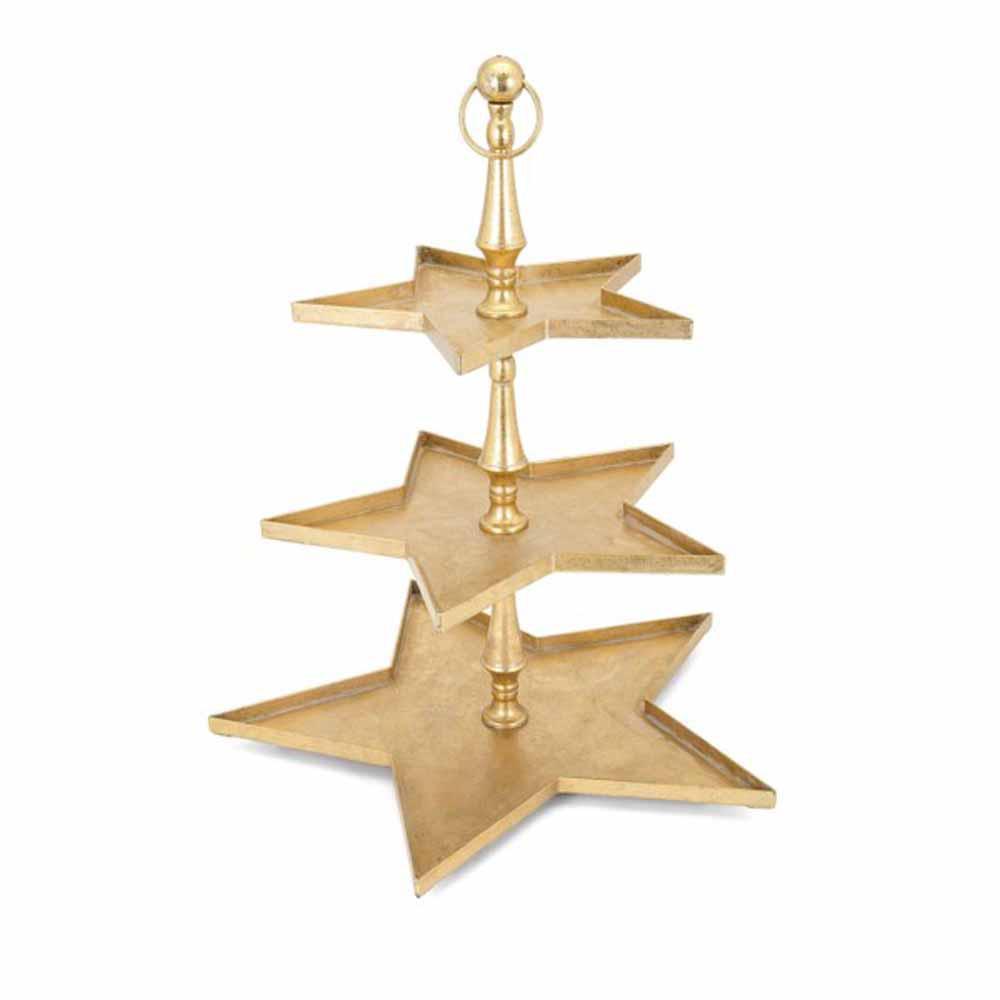 IMAX Christmas Gold Star 3 Tier Server