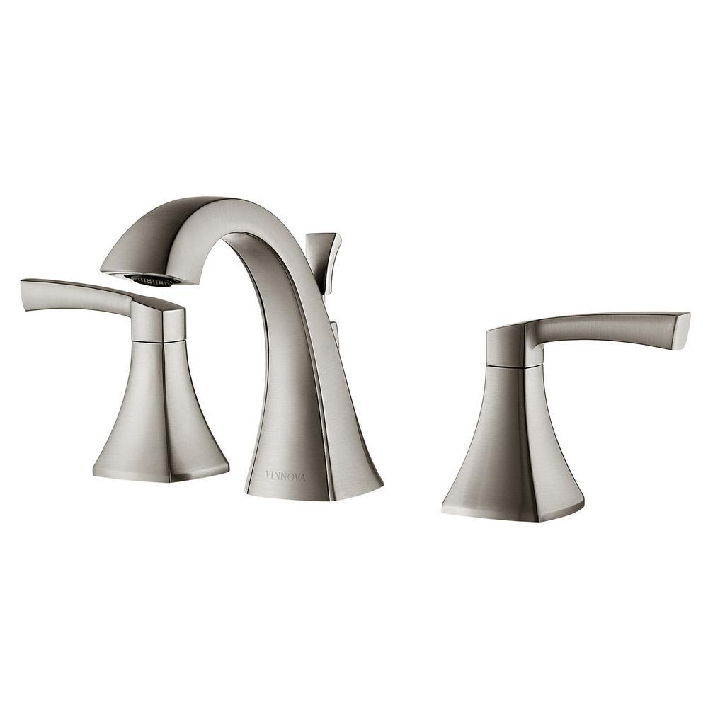 Abbie 8 in. Widespread 2-Handle Bathroom Faucet in Brushed Nickel