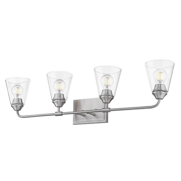 Ormond 4.375 in. 4-Light Pewter Vanity Light