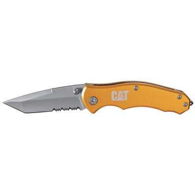 6-1/2 in. Tanto Serrated Folding Knife