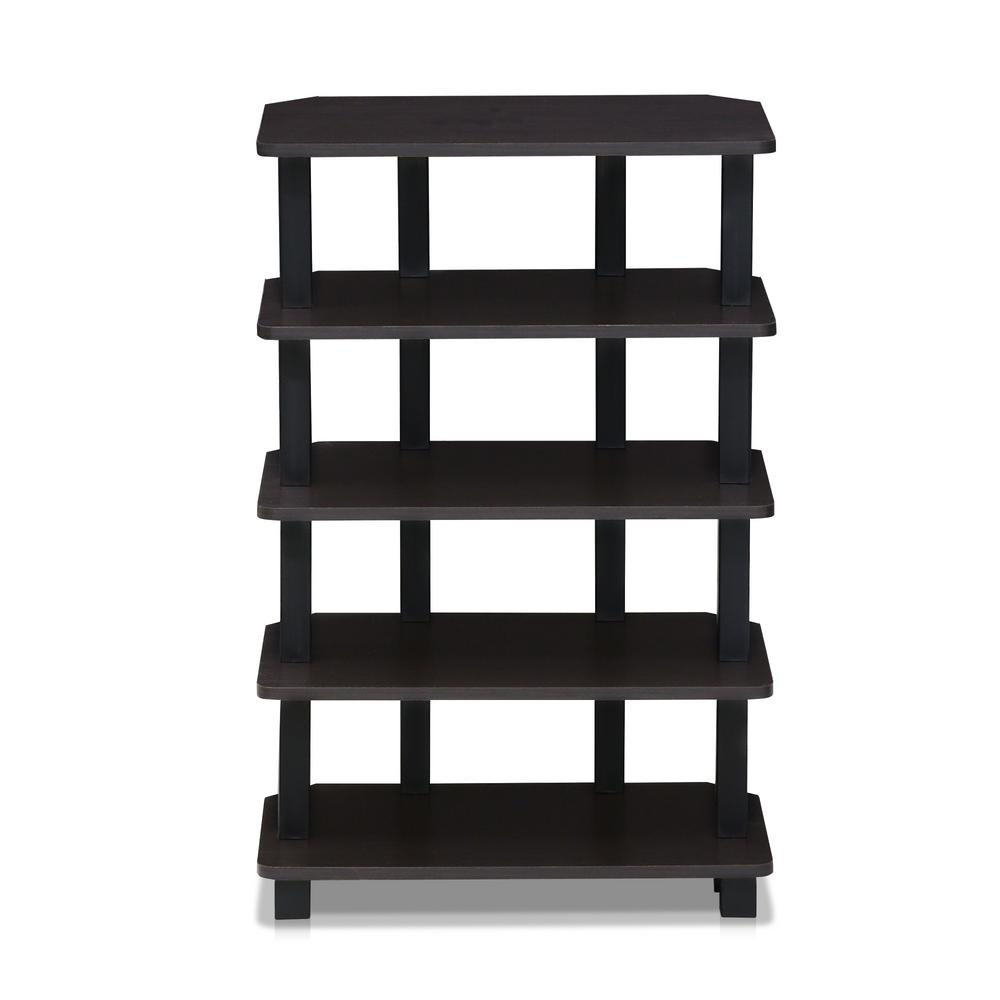 Turn-N-Tube Espresso 5-Tier Corner Storage Shelf