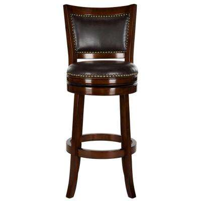 Lazzaro 29 in. Espresso Swivel Cushioned Bar Stool  sc 1 st  The Home Depot & Bar Stools - Kitchen u0026 Dining Room Furniture - The Home Depot islam-shia.org