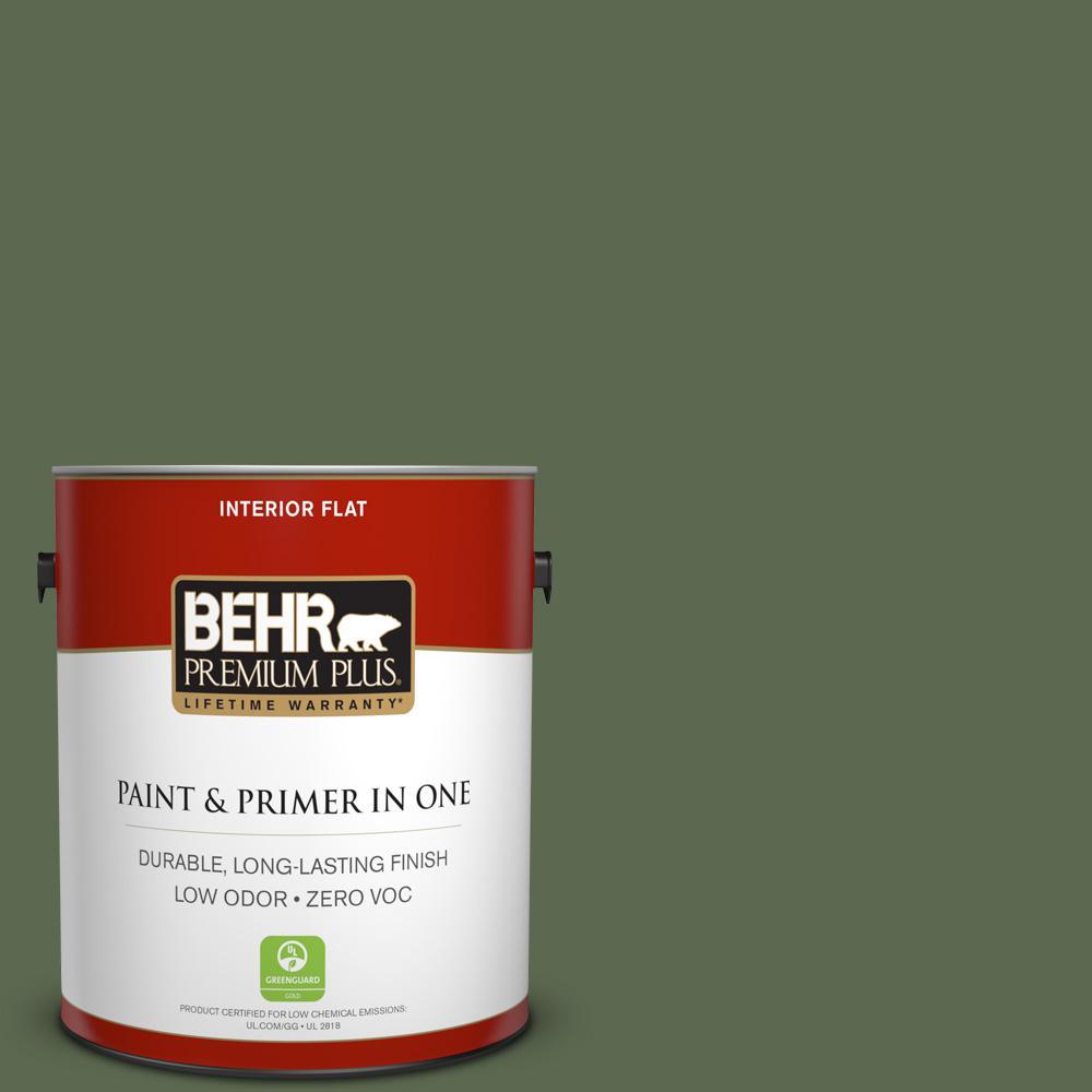 BEHR Premium Plus 1-gal. #ICC-87 Rosemary Sprig Zero VOC Flat Interior Paint