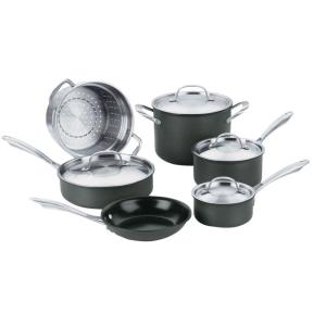 Cuisinart GreenGourmet 10-Piece Black Cookware Set with Lids by Cuisinart