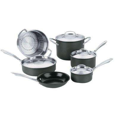 GreenGourmet 10-Piece Black Cookware Set with Lids