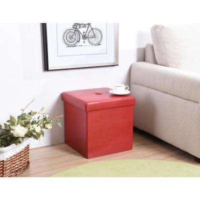 Cube Ottoman in Red