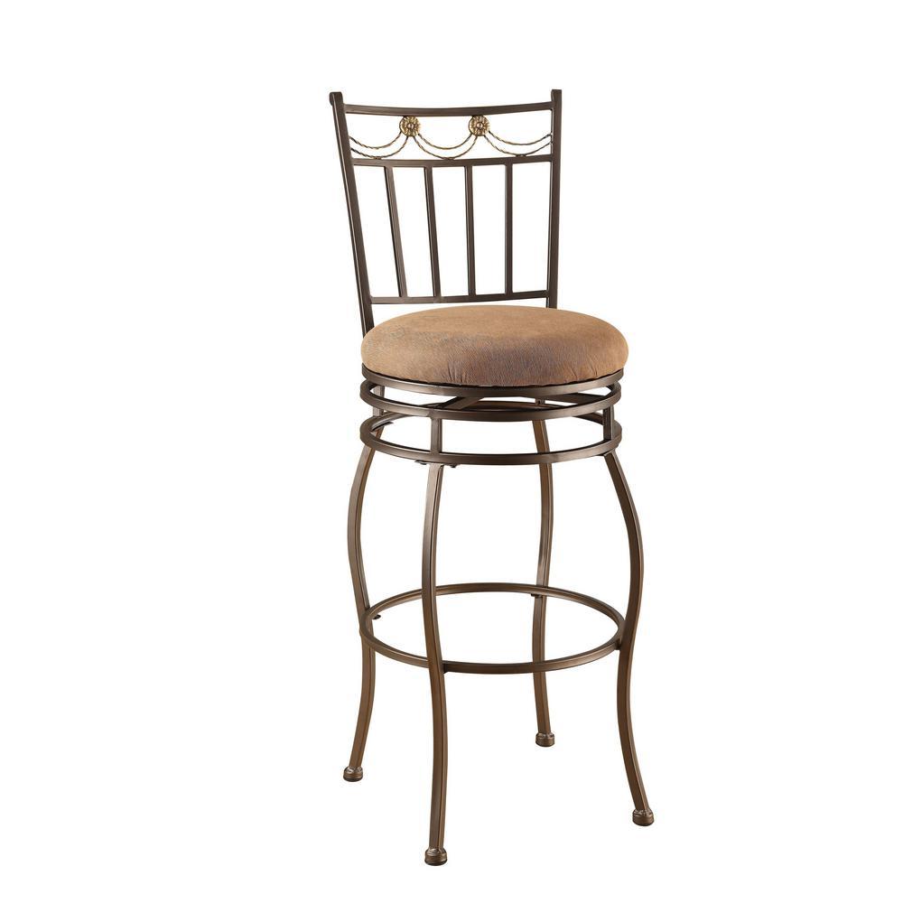 Acme Furniture Tavio 29 In Dark Bronze Swivel Cushioned