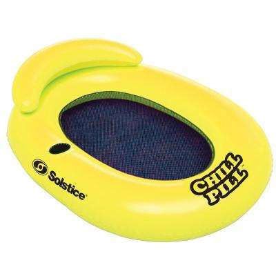 Solstice 58 in. x 32 in. Chill Pill Floating Lounger with Drink Holder
