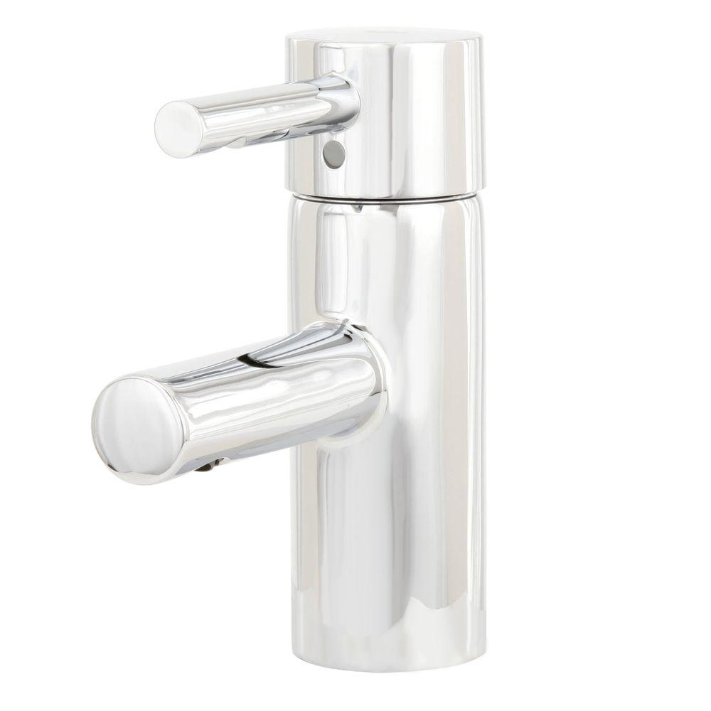 Essence Single Hole Single Handle Low-Arc Bathroom Faucet in StarLight Chrome