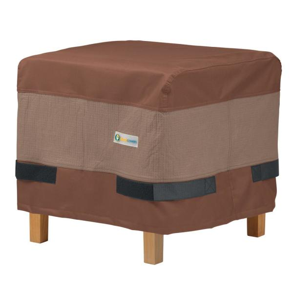 Ultimate 22 in. W x 22 in. D x 18 in. H Square Ottoman/Side Table Cover