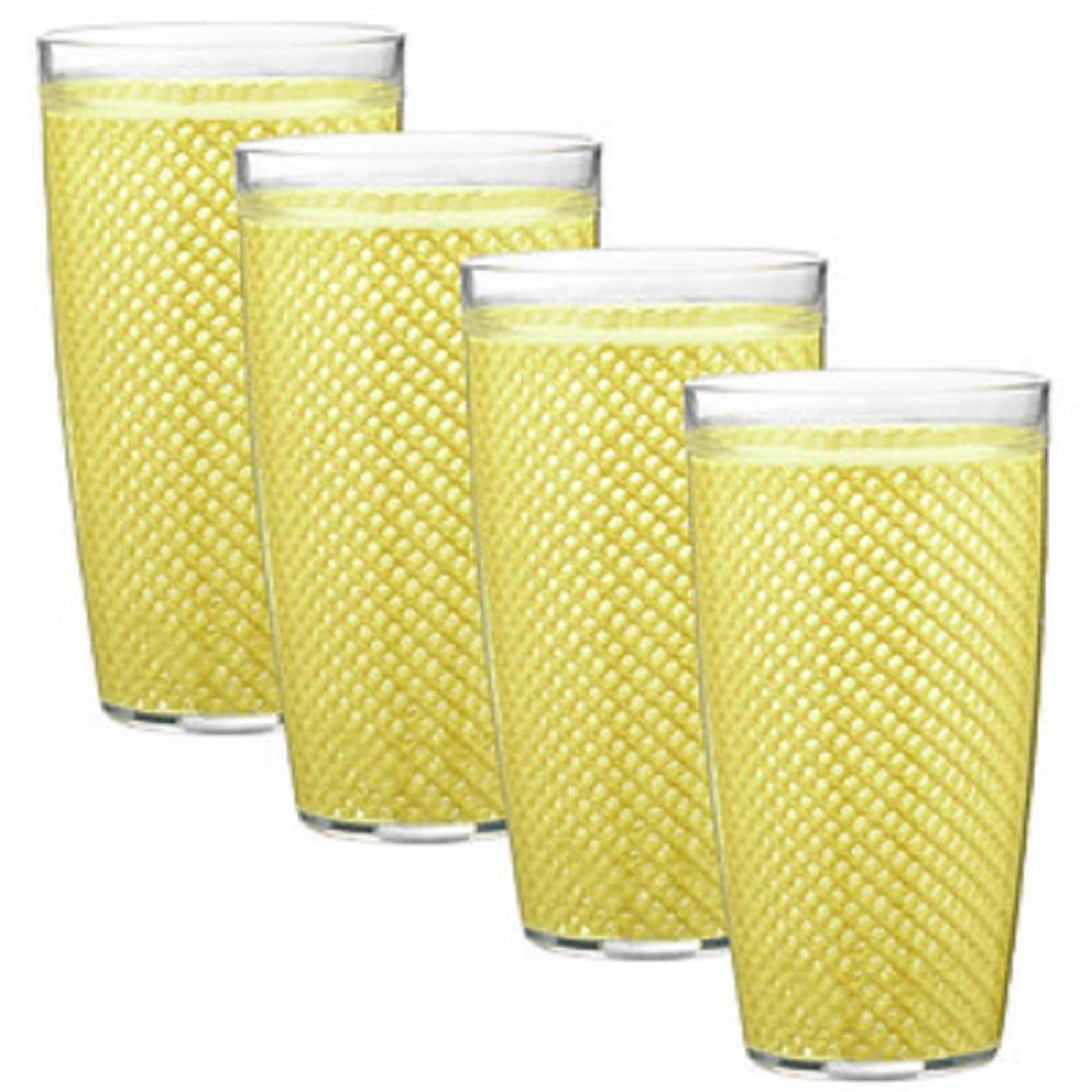 Fishnet 22 oz. Lemon Insulated Drinkware (Set of 4)