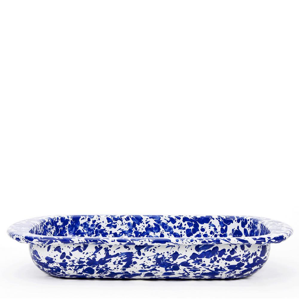 Cobalt Swirl 4.5 qt. Enamelware Baking Pan